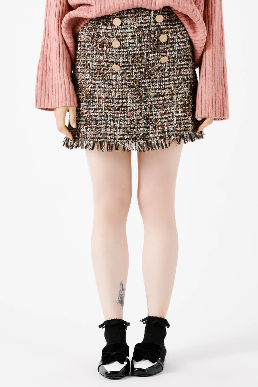 falda estilo chanel